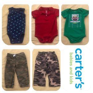 5 Carter's Item Bundle Boys 18 Months